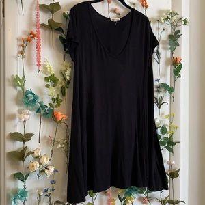 Rolla Coster slinky, black, scoop neck dress